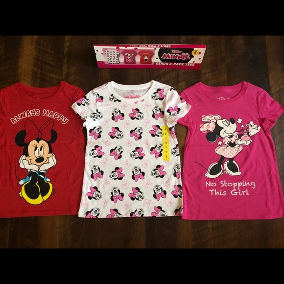 New Disney All American Top Minnie Mouse 4 5 6 10 12 14 NWT Graphic Tee Girl